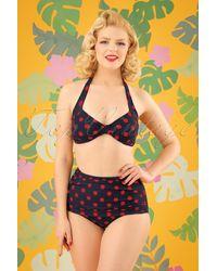 Esther Williams Swimwear 50s Sarong Polkadot Bikini Bottoms - Meerkleurig