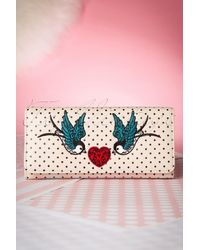 Banned Retro 50s Now Or Never Polka Purse - Roze