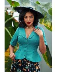 Miss Candyfloss 50s Shera Blazer Jacket - Blauw
