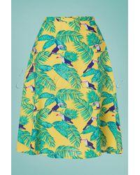Banned Retro 60s All Over Toucan Skirt - Meerkleurig