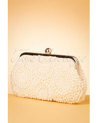 Collectif Clothing 50s Olla Pearl Clutch - Naturel