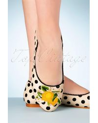 Banned Retro 50s Limonata Flats - Wit