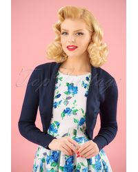 Collectif Clothing 50s Jean Knitted Bolero - Blauw