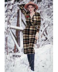 Closet 60s Glory Velvet Wrap Dress - Meerkleurig