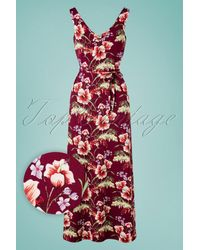 King Louie 60s Anna Colada Maxi Dress - Rood