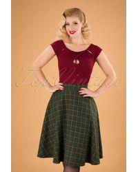 Banned Retro 40s Polly Swing Skirt - Groen
