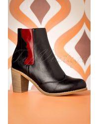 Banned Retro 70s Keenak Face Boots - Zwart