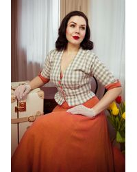Miss Candyfloss 50s Nata May Short Tartan Jacket - Meerkleurig