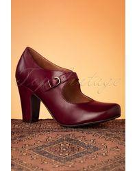 Miz Mooz 50s Krissy Leather Mary Jane Pumps - Rood
