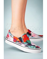 Ruby Shoo 50s Aria Floral Sneakers - Blauw