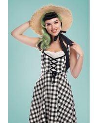 Collectif Clothing 50s Esther Straw Hat - Meerkleurig