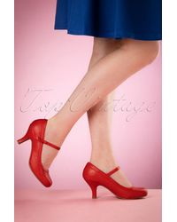 Bettie Page 50s Bettie Pumps - Rood
