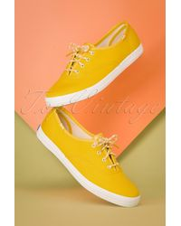 Keds 50s Champion Core Sneakers - Geel