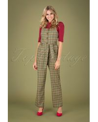 King Louie 40s Ines Miso Jumpsuit - Groen