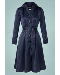 Collectif Clothing 40s Nala Coat - Blauw