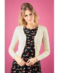 King Louie 40s Heart Ajour Cardigan - Meerkleurig