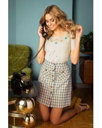 King Louie 60s Gianna Maverick Check Skirt - Meerkleurig