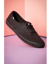 Keds 50s Champion Core Text Sneakers - Zwart