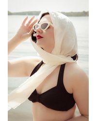 Esther Williams Swimwear 50s Classic Bikini Top - Zwart