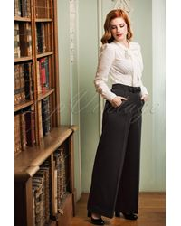 Banned Retro - 40s Hidden Away Trousers - Lyst