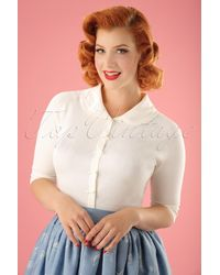 Banned Retro 40s April Bow Cardigan - Wit