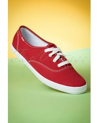 Keds 50s Champion Core Text Sneakers - Rood