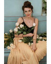 Closet 50s Aubrey Pleated Pin Dot Skirt - Oranje