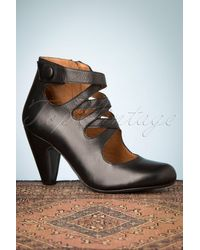 Miz Mooz 50s Sedona Leather Pump Booties - Zwart