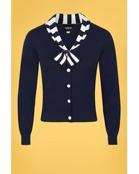 Collectif Clothing 50s Doreen Cardigan - Blauw