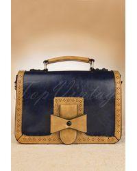 Banned Retro 50s Antique Messenger Bag - Blauw
