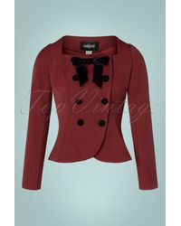 Collectif Clothing 40s Agatha Jacket - Rood