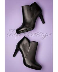 Tamaris 50s Classy Leather Ankle Booties - Zwart