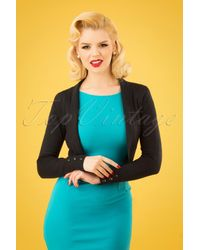 Collectif Clothing 50s Jean Knitted Bolero - Zwart