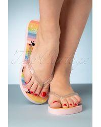 Lulu Hun 60s Lola Rainbow Cat Flip Flops - Meerkleurig