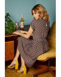 King Louie 70s Betty Loose Fit Palmer Dress - Meerkleurig
