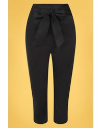 Collectif Clothing 50s Eugenia Capris - Zwart
