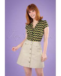 Louche 60s Neola Twill Mini Skirt - Naturel
