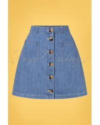 King Louie 60s Garbo Mini Skirt - Blauw