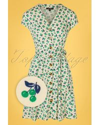 King Louie 60s Gloria La Paz Short Dress - Groen