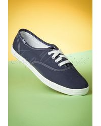 Keds 50s Champion Core Text Sneakers - Blauw