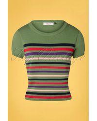 Banned Retro 60s Memory Lane Stripes Top - Groen