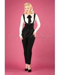 Collectif Clothing 50s Karen Suspender Trousers - Zwart