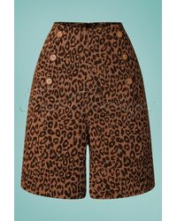 Banned Retro 50s Wild Child Shorts - Bruin