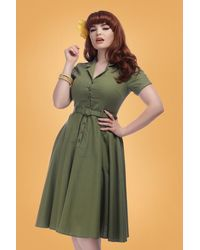 Collectif Clothing 50s Caterina Swing Dress - Groen