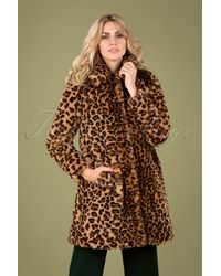 King Louie 60s Betty Tigresse Coat - Meerkleurig