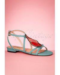 Yull 60s Herm Shell Leather Sandals - Meerkleurig