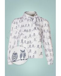 Circus by Sam Edelman 50s Olly Owl Blouse - Wit