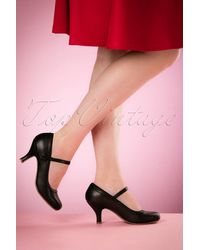 Bettie Page 50s Bettie Pumps - Zwart