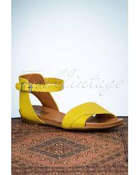Miz Mooz 70s Avon Sandals - Geel