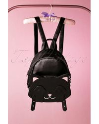 Banned Retro 50s A Cat With Tricks Backpack - Zwart